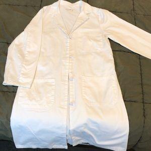 Wonderwink lab white coat size 8 long